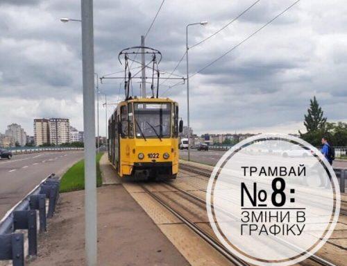 29.08.19 зміни у графіку трамвая №8