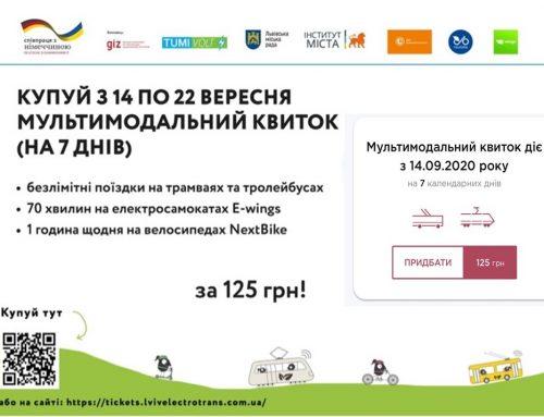 ТОП-7 фактів про мультимодальний квиток в межах Європейського тижня мобільності