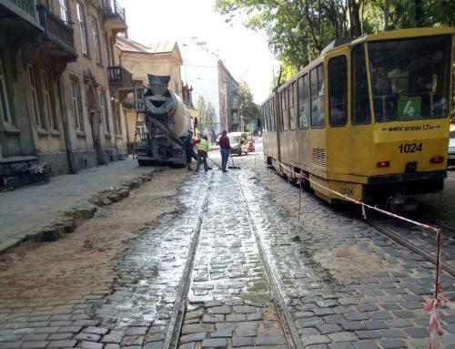 На вулиці Вітовського завершено заміну понад 60 метрів колії, яка перебувала у неналежному експлуатаційному стані